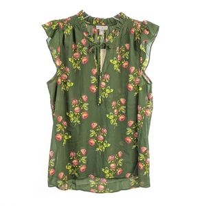 NWT J. Crew Point Sur floral print tie neck blouse